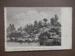 CPA D60 - TRES RARE - ERMENONVILLE - VUE DU DESERT AVEC LA CABANE DE ROUSSEAU - GRAVURE - PRECURSEUR - R12292 - Ermenonville
