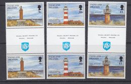 "Falkland Islands 1997 Lighthouses 3v Gutter ""Walsall"" ** Mnh (37634) - Falklandeilanden"