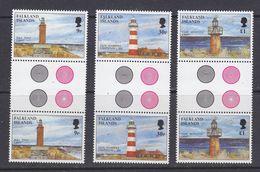 Falkland Islands 1997 Lighthouses 3v Gutter ** Mnh (37634A) - Falklandeilanden