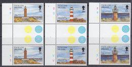 Falkland Islands 1997 Lighthouses 3v Gutter ** Mnh (37634C) - Falkland Islands