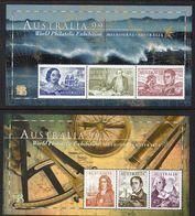 AUSTRALIA, 1999 EXHIBITION  MINISHEETS 2 MNH - 1990-99 Elizabeth II
