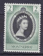 Montserrat 1953 Mi. 128   2 C. Queen Elizabeth II. Coronation MH* - Montserrat