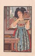 Fiche Chromo Illustration L Alsace Est Francaise Gateau Kougelhopf Drapeau Tricolore Patriotique Dlg Hansi - Historia