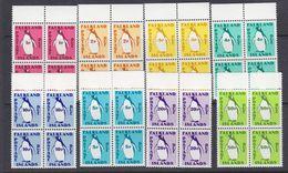 Falkland Islands 1991 Postage Due 8v Bl Of 4 ** Mnh (37635B) - Falklandeilanden