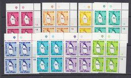 Falkland Islands 1991 Postage Due 8v Bl Of 4(corner) ** Mnh (37635C) - Falklandeilanden