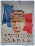 AFFICHE ORIGINALE - MARÉCHAL PÉTAIN - RÉVOLUTION NATIONALE - 1940 - Affiches