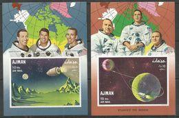 AJMAN - MNH - Space - Flight To Moon - Space