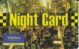 TARJETA DE ESPAÑA DE PREPAGO DE TELEFONICA DE NIGHT CARD DE 5 EUROS - Espagne
