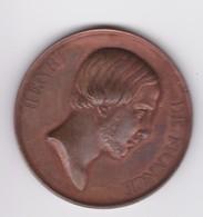 Curieuse Médaille (de Mariage?) Henri De France (Henri V) Réalisée Par Gayrard à Prague En 1842 - Royal / Of Nobility