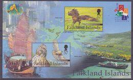 Falkland Islands 2001 Hong Kong M/s ** Mnh (37636) - Falklandeilanden