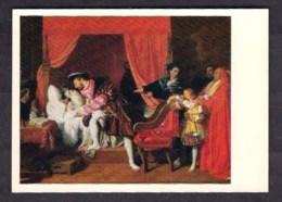 37-032 / JEAN DOMINIQUE INGRES -  THE DEATH Of LEONARDO DA VINCI 1818 - Schilderijen