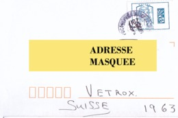 Lettre De France Pour La Suisse Du 26 09 2017 - Postmark Collection (Covers)