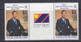 """Falkland Islands 1999 Visit Prince Of Wales 1v Gutter """"Crown Agents""""  ** Mnh (37638) - Falklandeilanden"""