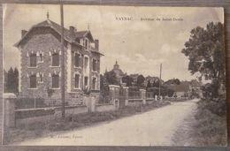(46).VAYRAC.AVENUE DE ST DENIS.CIRCULE 1929.CACHET CONVOYAGE. - Vayrac