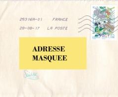 Lettre De France Pour La Suisse Voyagé Le 28. 08. 2017. Timbre Arbres De Méditerranée - Postmark Collection (Covers)