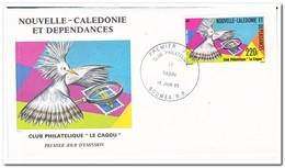 """Nieuw Caledonië 1985, FDC, Philatelists Association """"Le Cagou"""" - FDC"""