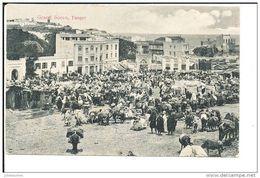 Tanger Maroc Grand Socco Cpa Bon Etat - Tanger