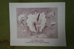 Menu Du Cornet  - 403e Déjeuner Présidé Par Piret Le Samedi 16 Février 1952 - Illustration De Marcel Bloch - Menus