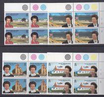 Falkland Islands 1996 Royal Visit 4v Bl Of 4 (corner) ** Mnh (37639) - Falklandeilanden
