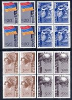 ARMENIA 1992 Definitives In  Blocks Of 4 MNH / ** - Armenia