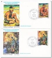 Nieuw Caledonië 1983, FDC, Paintings - FDC