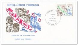 Nieuw Caledonië 1982, FDC, Overseas Week - FDC