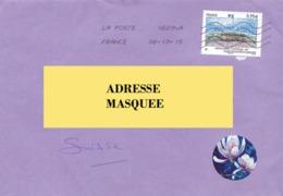 Lettre De France Pour La Suisse Voyagé Le 06. 10. 2015.Timbre Monument Hartmannswillerkoff - Postmark Collection (Covers)