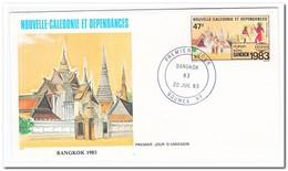 Nieuw Caledonië 1983, FDC, International Stampexhibition Bangkok - FDC