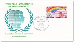 Nieuw Caledonië 1985, FDC, International Year Of The Youth - FDC