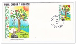Nieuw Caledonië 1985, FDC, Reforestation Campaign - FDC