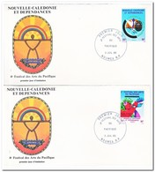 Nieuw Caledonië 1985, FDC, Pazific Art Festival - FDC