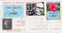 Enveloppe  FDC  1er Jour   WALLIS  ET  FUTUNA    Sir  Rowland  HILL   1979 - Rowland Hill