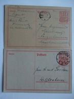 GERMANY - 1921 - 2 X Internal Postcards - Charlottenburg And Dortmund Postmarks - Germany