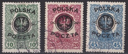 Brk_ Polen - Mi.Nr. 17 - 19 - Gestempelt Used - ....-1919 Übergangsregierung