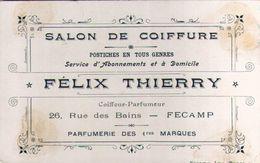 Salon De Coiffure Félix Thierry à Fécamp, 26 Rue Des Bains - Coiffeur-parfumeur - Visiting Cards