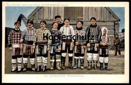 ALTE POSTKARTE EIN GRÖNLÄNDISCHER BLUMENSTRAUSS Otto Sverdrup Expedition Tracht Polar Traditional Costume Kaloallit - Europe