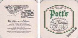 Bierdeckel Quadratisch - Potts - Gläserne Abfüllung - Beer Mats