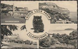 Multiview, Greetings From Llandudno, Caernarvonshire, 1964 - Valentine's Postcard - Caernarvonshire