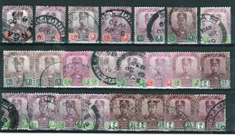 Malaysia Johore Selection Of Early Stamps From 1904 Upwards All Used. - Johore