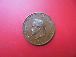 Napoléon III. Médaille 1867 (Postérieure) 35mm-20,4 Grammes - Royal / Of Nobility
