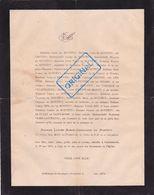 FAIRE PART DÉCÈS DE MONTETY. 1874, Castelsarrasin. Lescure, De Ricard, Champfleury, Gualy De Saint-Rome, Olier Laverlede - Décès