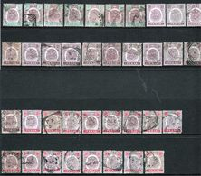 Malaysia Perak Tiger Selection Of Early Stamps From 1895 Upwards All Used. - Perak