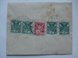 CZECHOSLOVAKIA - 1920 Brief Cover - Karlin To Olomouc - Czechoslovakia