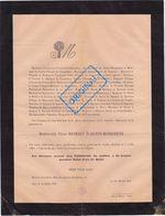 FAIRE PART DÉCÈS RAYNARDI DE SAINTE MARGUERITE. AIX EN PROVENCE. Isoard Chenerilles, Michaud Beauretour, Vogué, Saporta - Décès