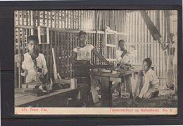 Netherlands Indies Carpenter School  In Halmaheira (Northeren Moluks) 1910 (13-16) - Indonesia