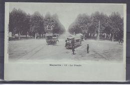 CPA Marseille Dpt 13 Le Prado Trams Calèche Réf 2170 - Castellane, Prado, Menpenti, Rouet