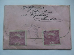 CZECHOSLOVAKIA - 1920 Brief Cover - Frystat Ve Slezsku To Olomouc - Czechoslovakia