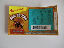 Loterie/ Lottery/ Loteria/ Lotaria Instant Instantânia Raspadinha Jogo Nº 328 Ano Do Cão Portugal - Lottery Tickets