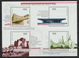 Blockausgabe: Deutsche Architektur Nach 1945. /  MiNr.: 1906-1909 (Block 37) - BRD