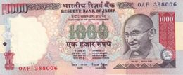 INDIA 1000 RUPEES ND (2000) P-94b UNC PLATE LETTER A. SIGN. BIMAL JALAN RARE ! [IN278a2] - India